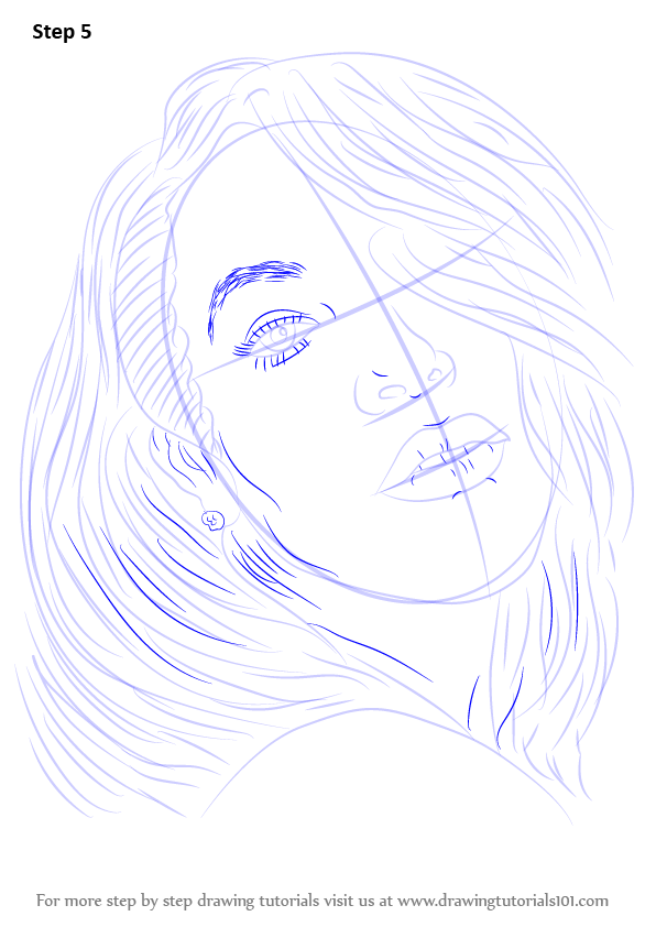 Step By Step How To Draw Aaliyah Drawingtutorials101 Com