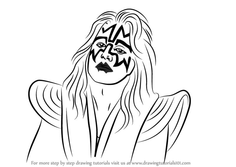 Learn How to Draw Ace Frehley Singers