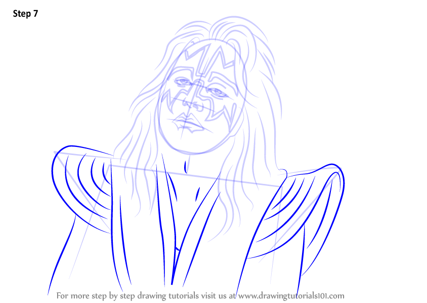 Learn How To Draw Ace Frehley Singers Step By Step