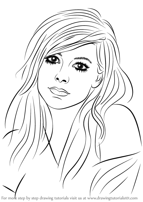 Learn How To Draw Avril Lavigne Singers Step By Step