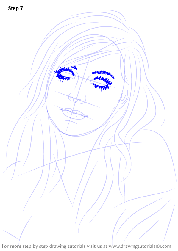 Learn How to Draw Avril Lavigne (Singers) Step by Step ... Batman Drawing In Pencil Easy