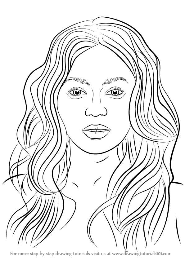 beyonce drawing step by step - photo #10