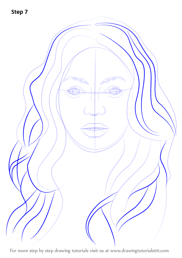 Learn How To Draw Beyonce Knowles Singers Step By Step