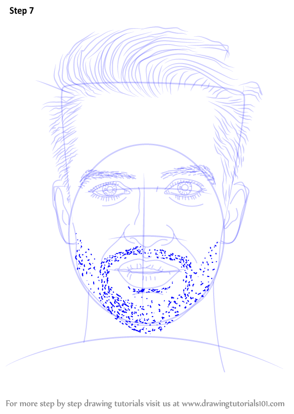 Learn How To Draw Brendon Urie Singers Step By Step