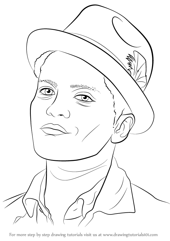 Bruno Mars Printable Coloring Pages