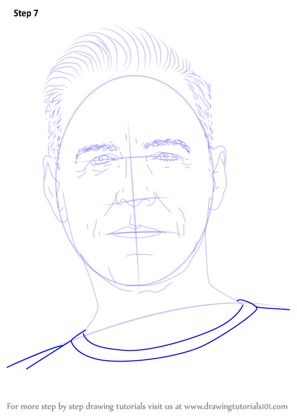 Learn How To Draw Bryan Adams Singers Step By Step