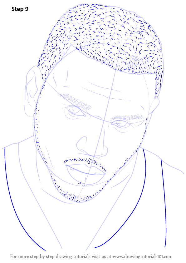 Learn How To Draw Chris Brown Singers Step By Step