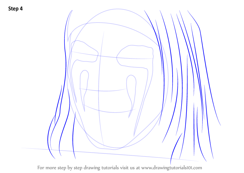 step by step how to draw christian coma