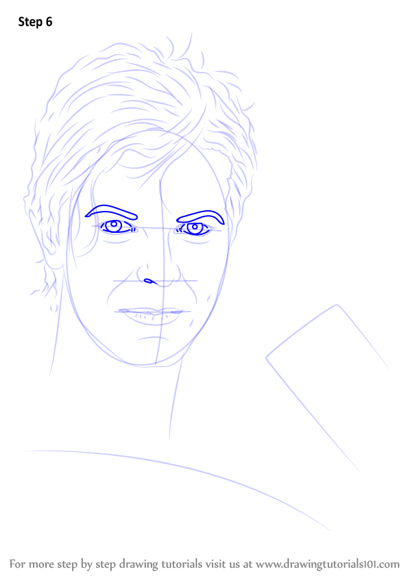 learn how to draw david bowie  singers  step by step