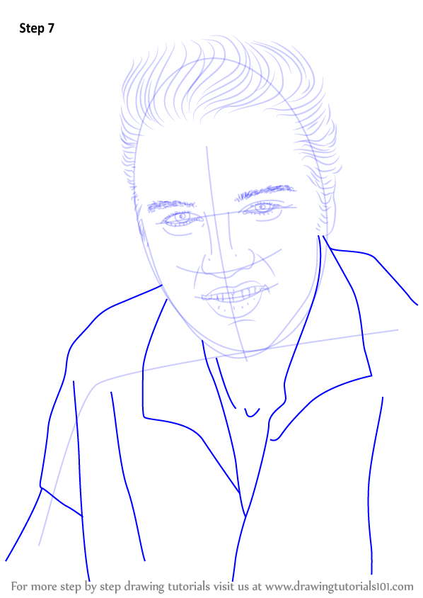 Step By Step How To Draw Elvis Presley