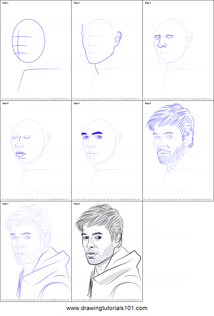 how to draw enrique iglesias