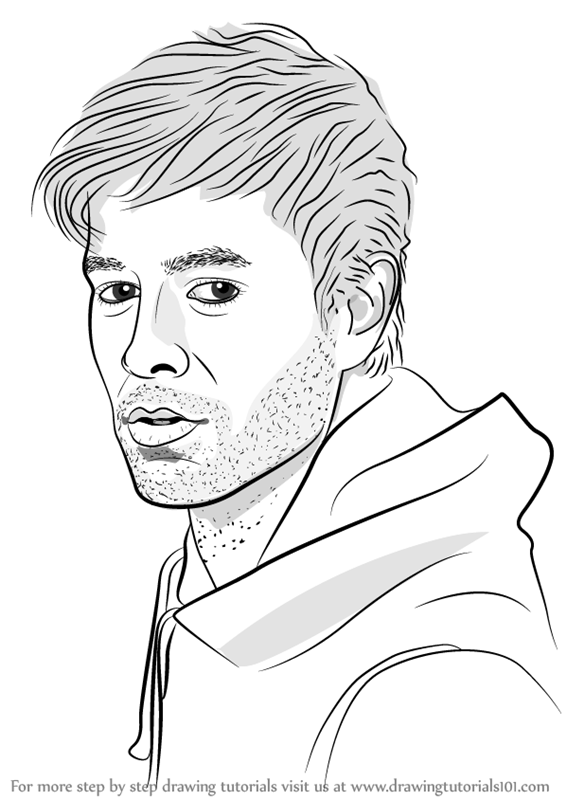 Learn How To Draw Enrique Iglesias (Singers) Step By Step