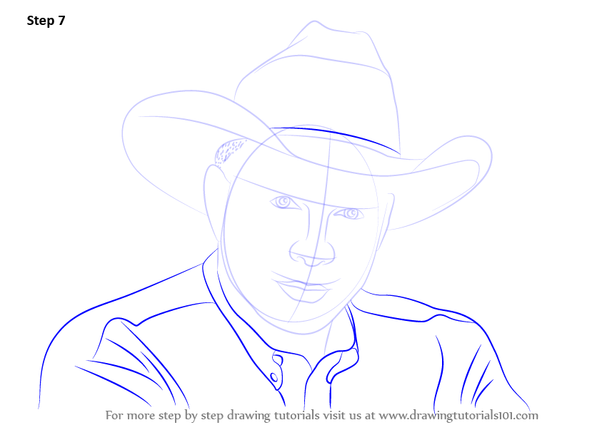 Learn How To Draw Garth Brooks Singers Step By Step