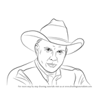 How to Draw Garth Brooks
