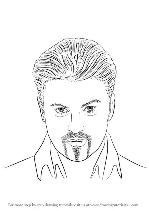 Step By Step How To Draw George Michael