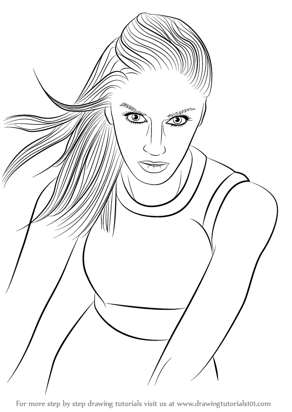 Learn How To Draw Gwen Stefani Singers Step By Step