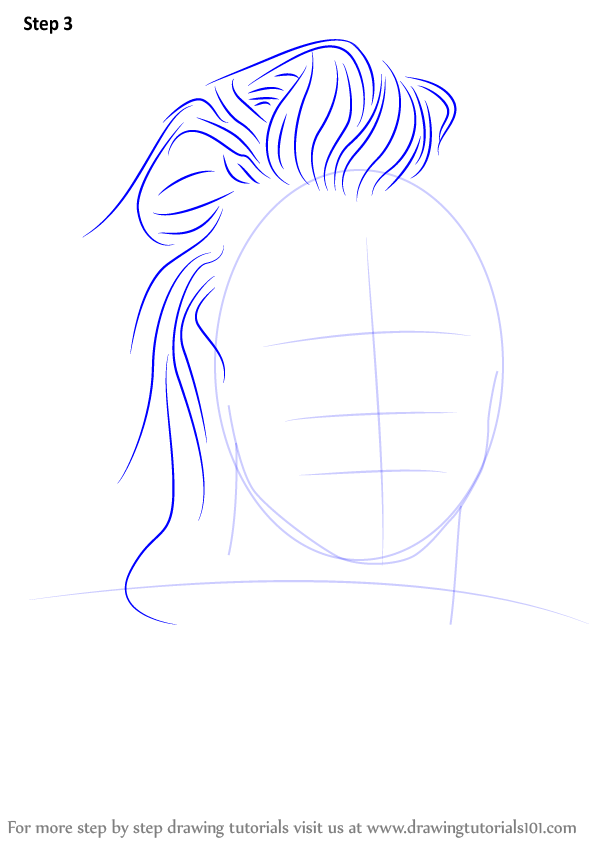 how to draw simple hair styles