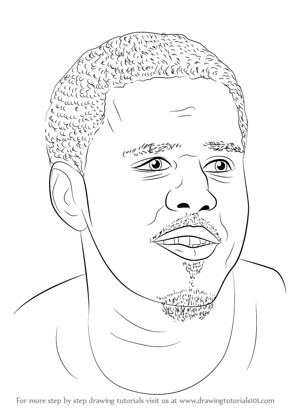 Learn How To Draw J Cole Singers Step By Step Drawing