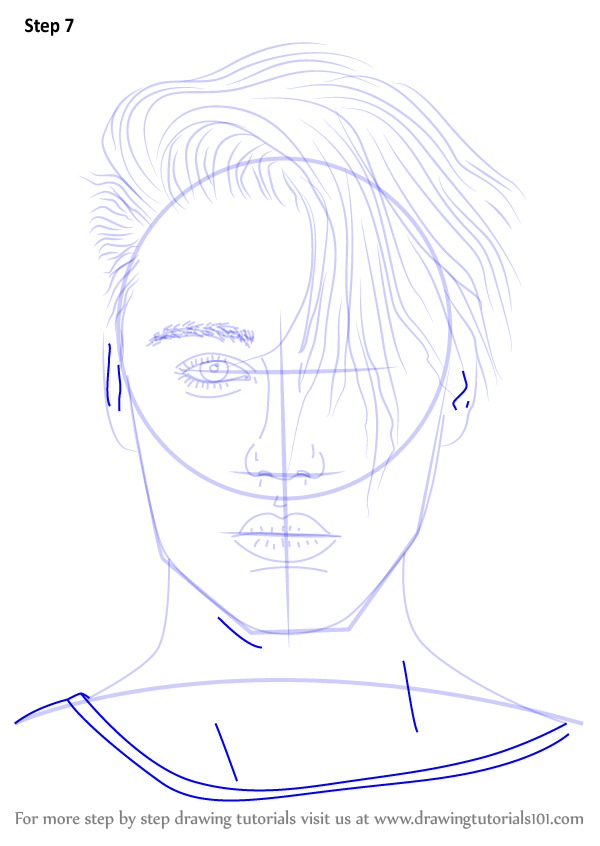Learn How To Draw Justin Bieber V2 Singers Step By Step Drawing