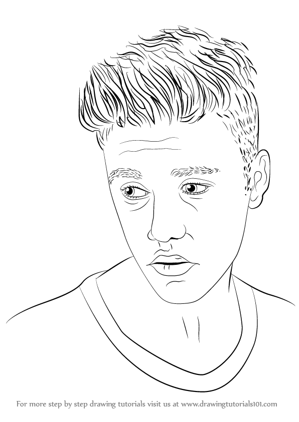 How To Draw Justin Bieber Step By Step For Kids