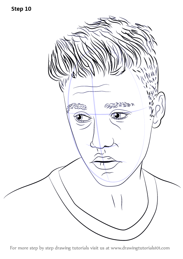 Learn How To Draw Justin Bieber Singers Step By Step