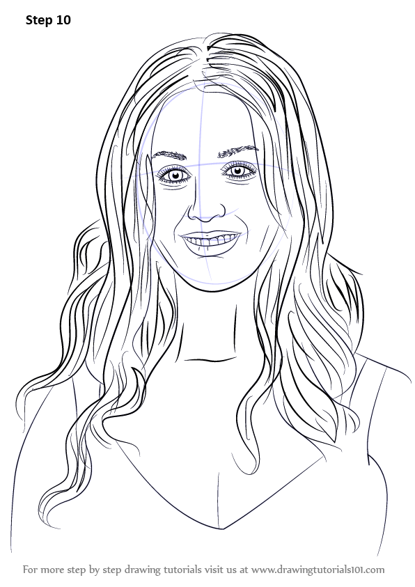 learn how to draw katy perry singers step by step