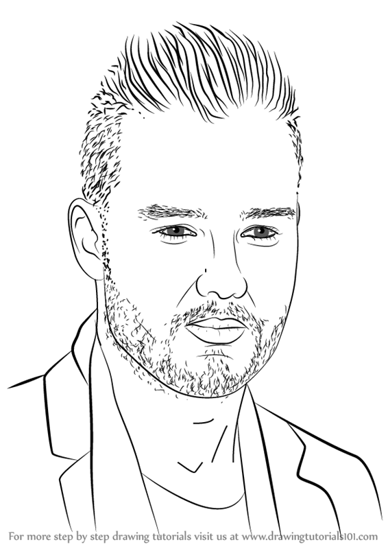 learn how to draw liam payne singers step by step