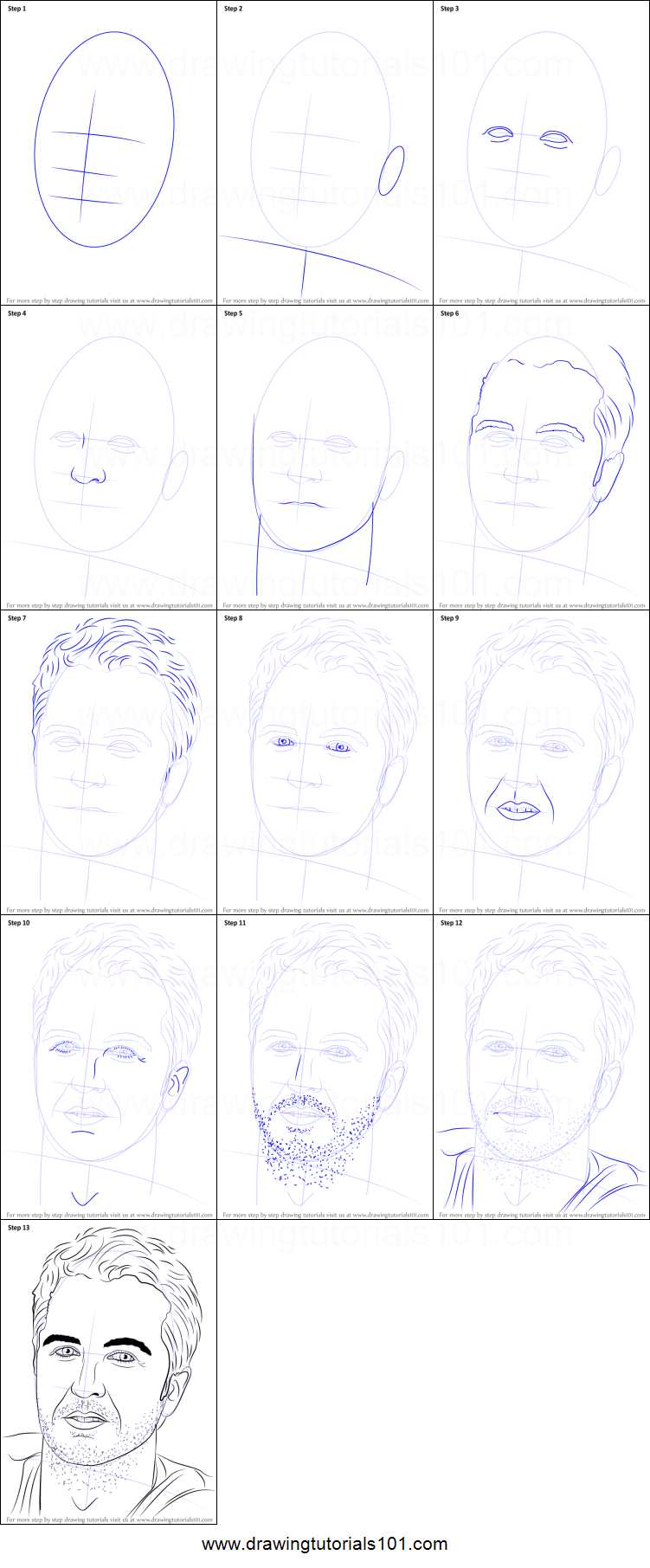 how to draw brian step by step easy
