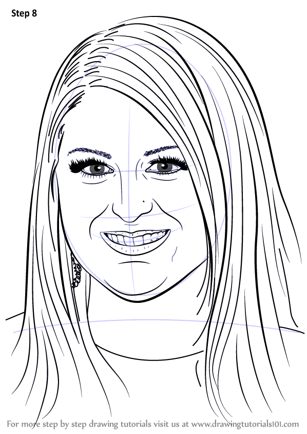 learn how to draw meghan trainor  singers  step by step