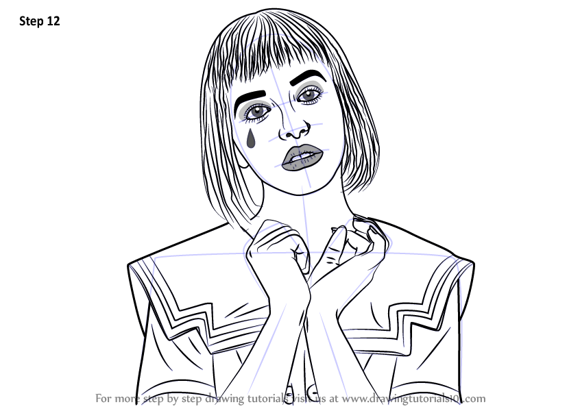 Learn How to Draw Melanie Martinez (Singers) Step by Step : Drawing ...