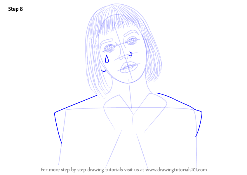 learn how to draw melanie martinez  singers  step by step   drawing tutorials