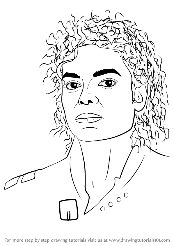 Learn How to Draw Michael Jackson (Singers) Step by Step ...