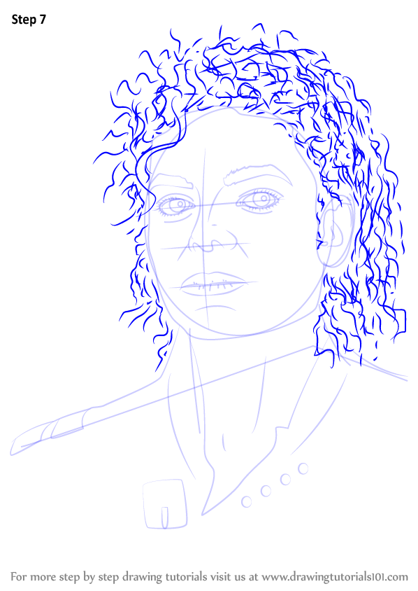 Learn How To Draw Michael Jackson Singers Step By Step