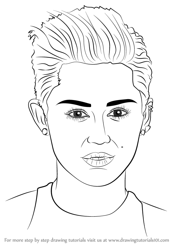 Learn How To Draw Miley Cyrus Singers Step By Step Drawing Tutorials