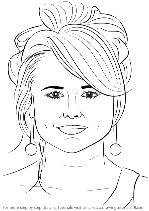 Learn How To Draw Miranda Lambert Singers Step By Step
