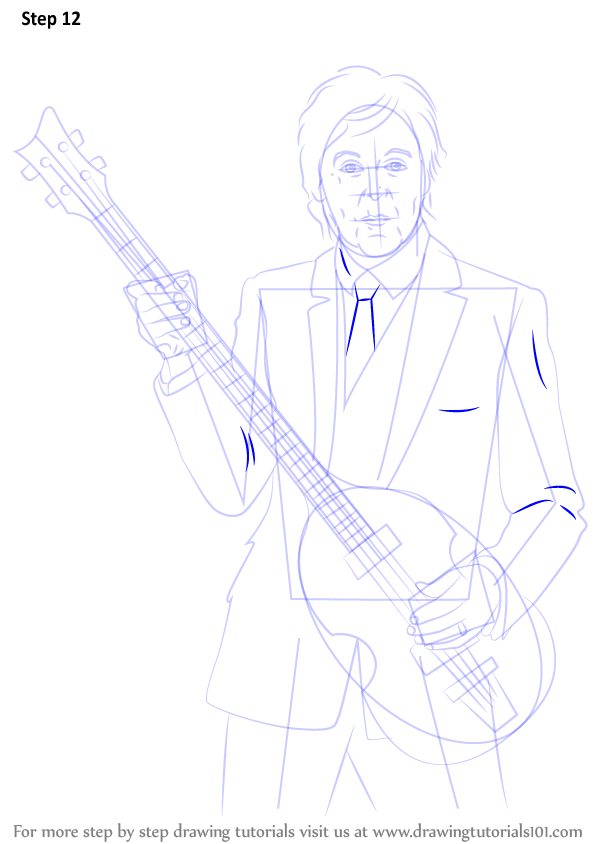 Step By Step How To Draw Paul Mccartney