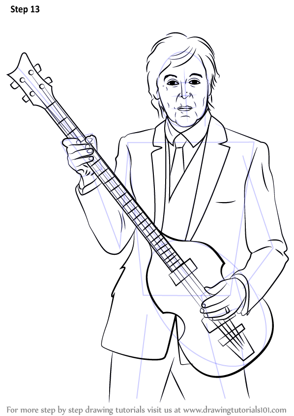 Learn How To Draw Paul Mccartney Singers Step By Step