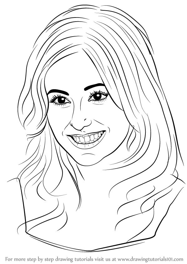 learn how to draw pixie lott  singers  step by step   drawing tutorials
