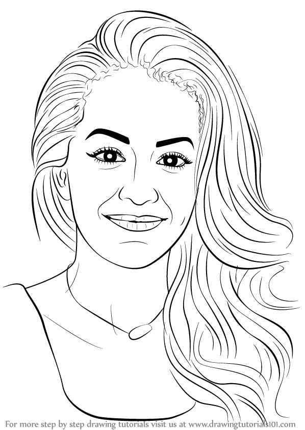 Learn How To Draw Rita Ora Singers Step By Step