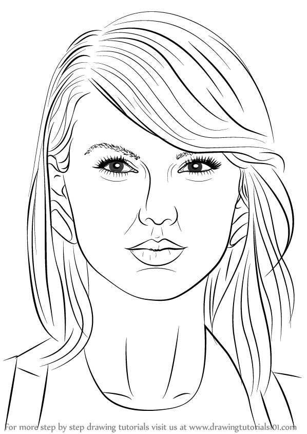 Kleurplaat Justin Bieber 2017 Learn How To Draw Taylor Swift Singers Step By Step
