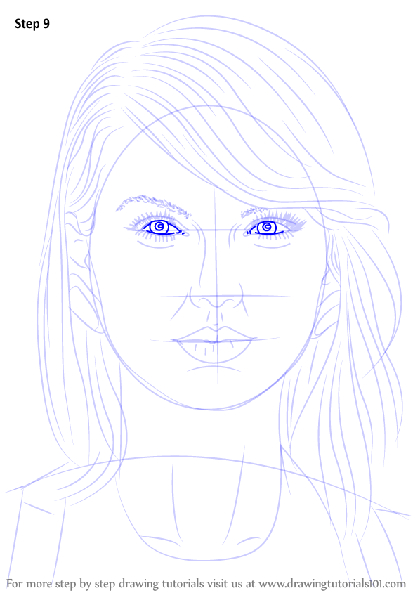 learn how to draw taylor swift  singers  step by step   drawing tutorials