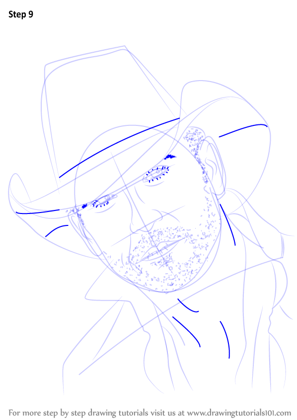Learn How To Draw Tim McGraw (Singers) Step By Step
