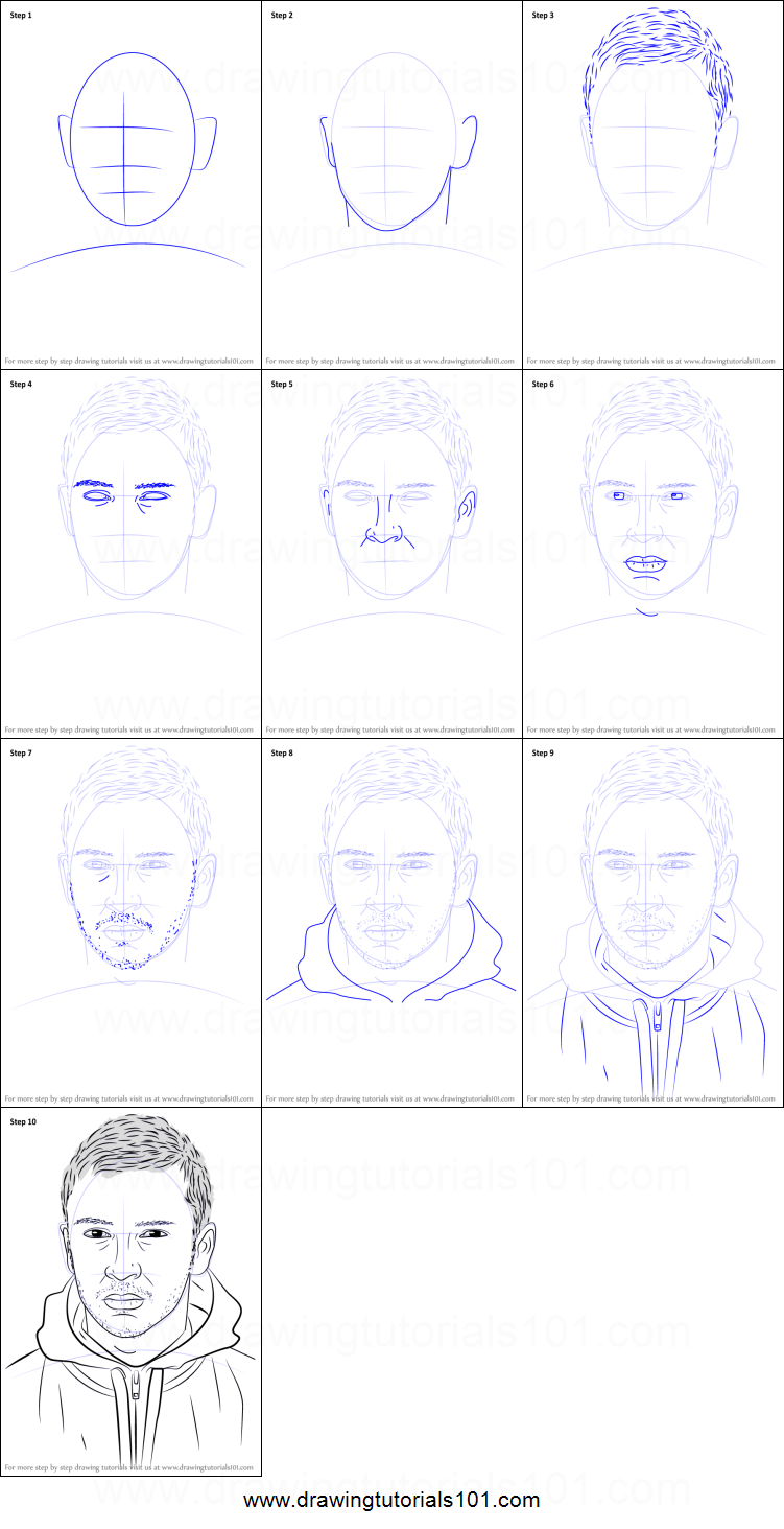 how to draw tyler joseph printable step by step drawing