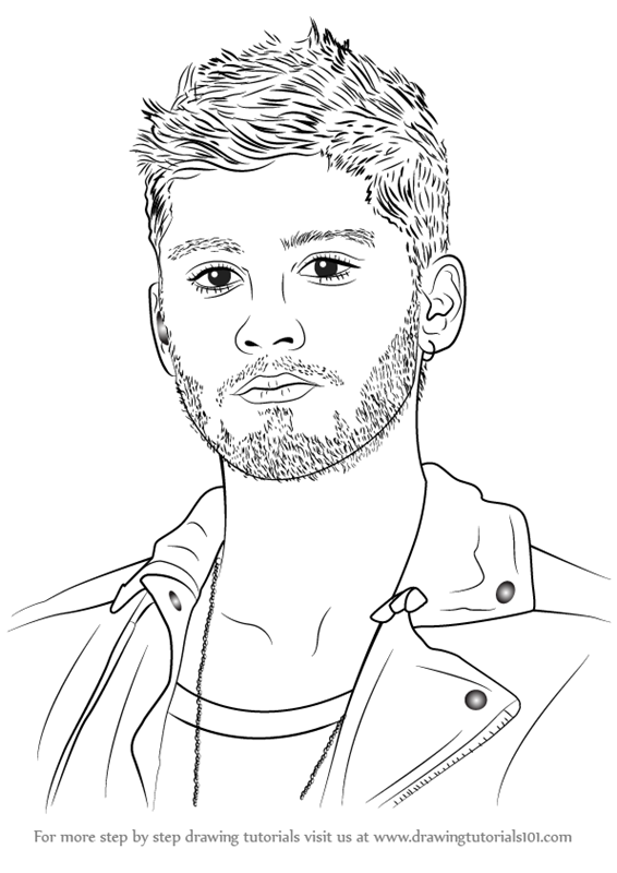 Learn how to draw zayn malik singers step by step drawing tutorials
