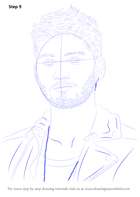 Learn How To Draw Zayn Malik Singers Step By Step