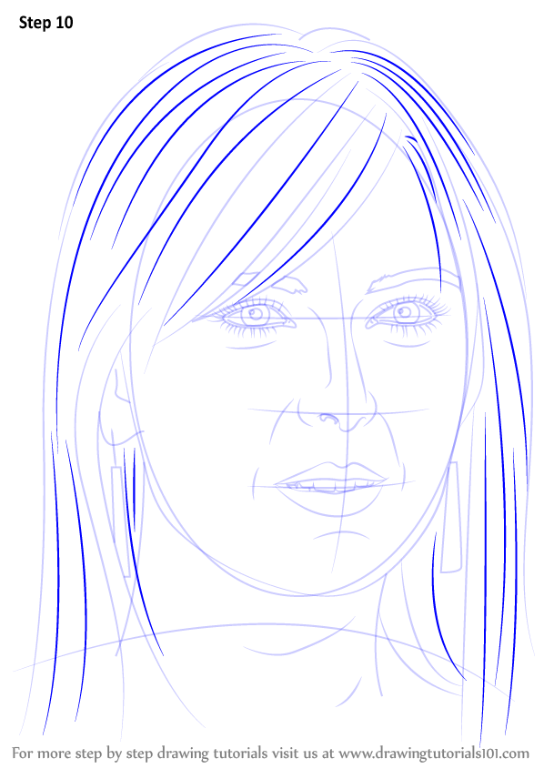 learn how to draw maria sharapova tennis players step by