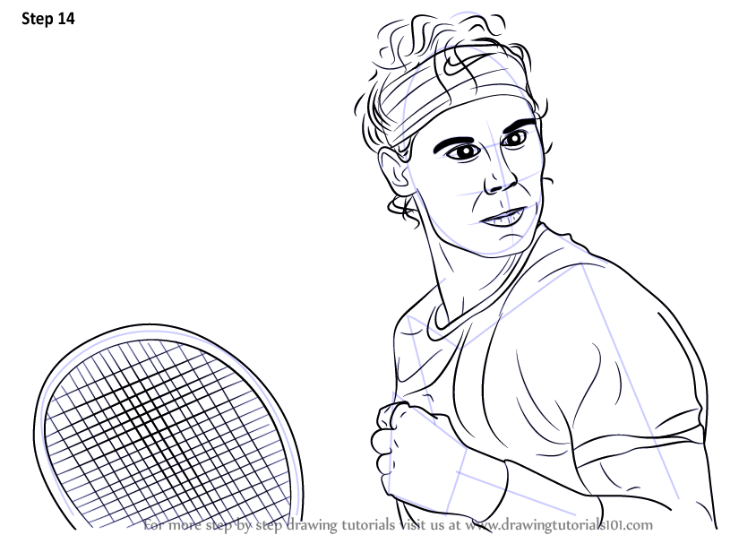 Learn How To Draw Rafael Nadal Tennis Players Step By Step
