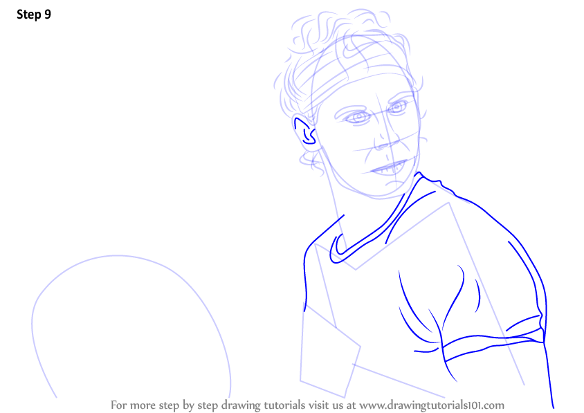 Learn How To Draw Rafael Nadal Tennis Players Step By Step Drawing Tutorials
