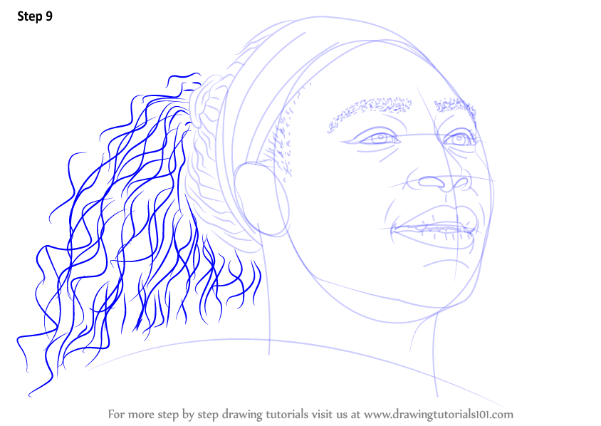 Learn How to Draw Serena Williams