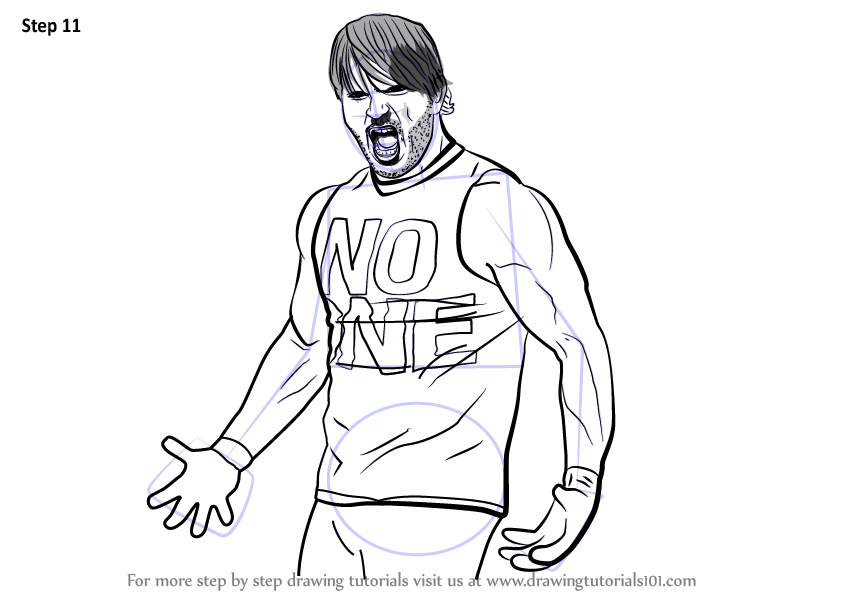 Learn How To Draw Aj Styles Wrestlers Step By Step Drawing Tutorials